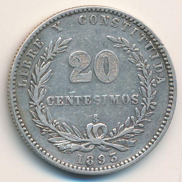 Уругвай, 20 сентесимо (1893 г.)