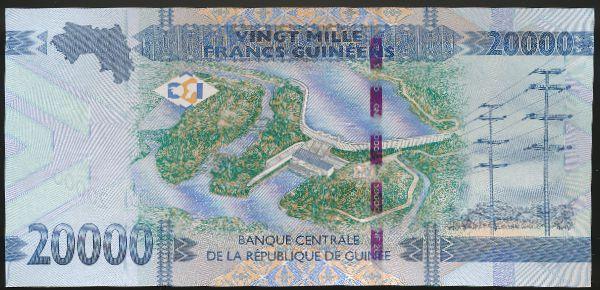 Гвинея, 20000 франков (2015 г.)