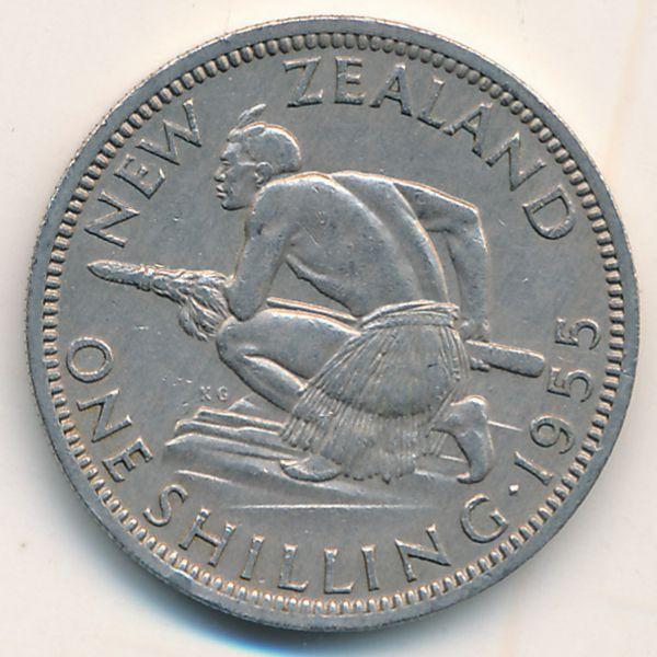 Новая Зеландия, 1 шиллинг (1955 г.)