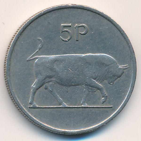 Ирландия, 5 пенсов (1976 г.)