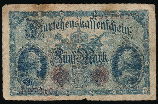 Берлин., 5 марок (1914 г.)