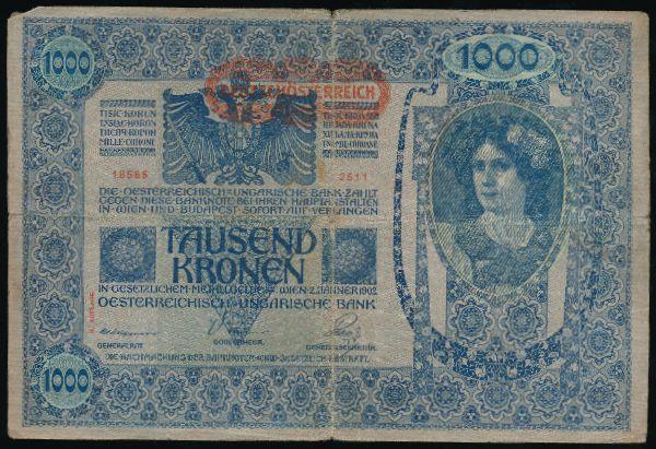 Австрия, 1000 крон (1902 г.)