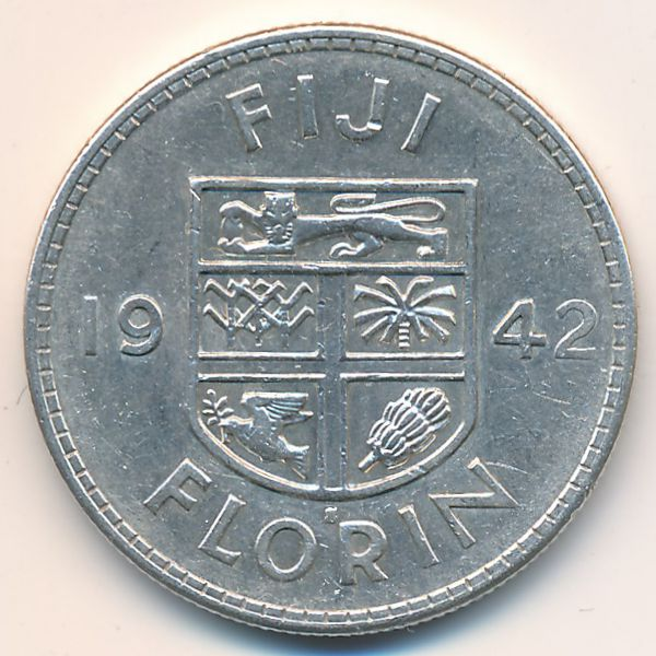 Фиджи, 1 флорин (1942 г.)