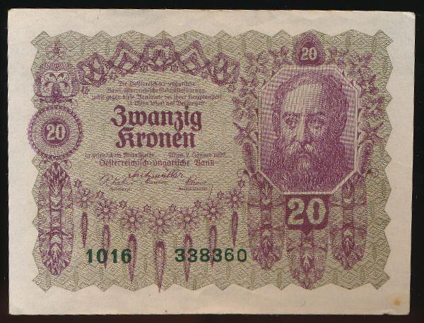 Австрия, 20 крон (1922 г.)
