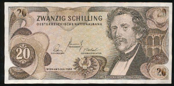 Австрия, 20 шиллингов (1967 г.)