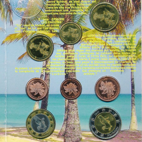 Мартиника, Набор монет (2005 г.)