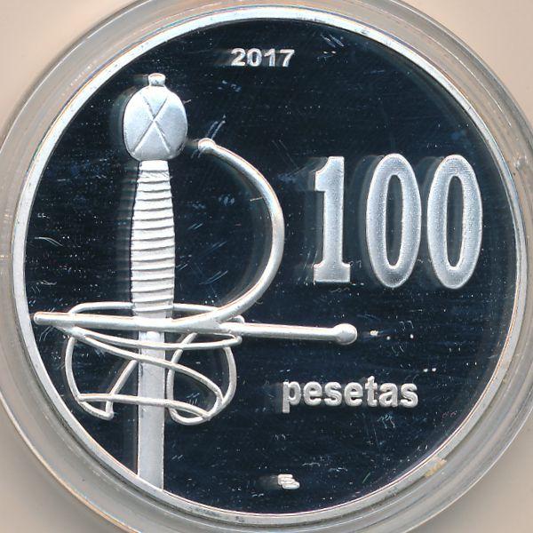 Пеньон-де-Велес-де-ла-Гомера, 100 песет (2017 г.)