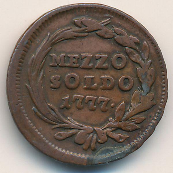 Милан, 1/2 сольдо (1777 г.)