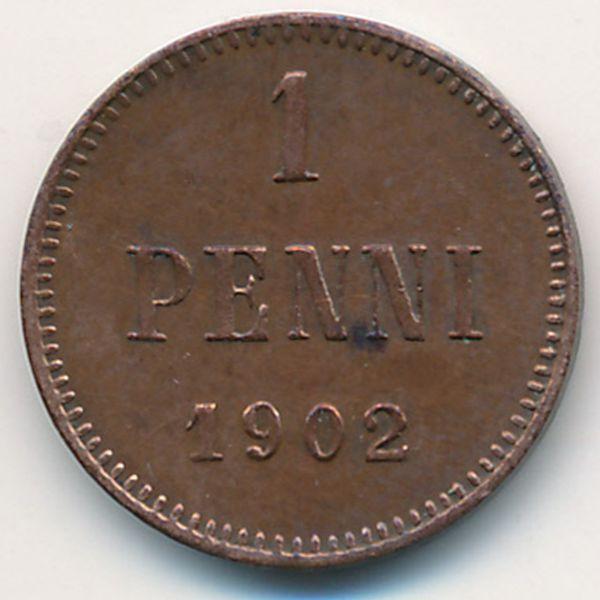 Финляндия, 1 пенни (1902 г.)