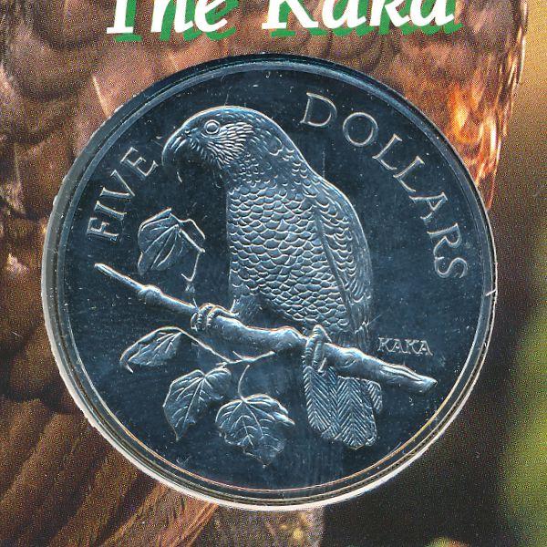 Новая Зеландия, 5 долларов (1996 г.)