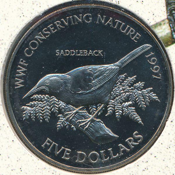 Новая Зеландия, 5 долларов (1997 г.)
