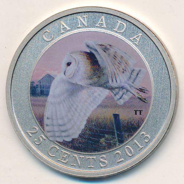 Канада, 25 центов (2013 г.)