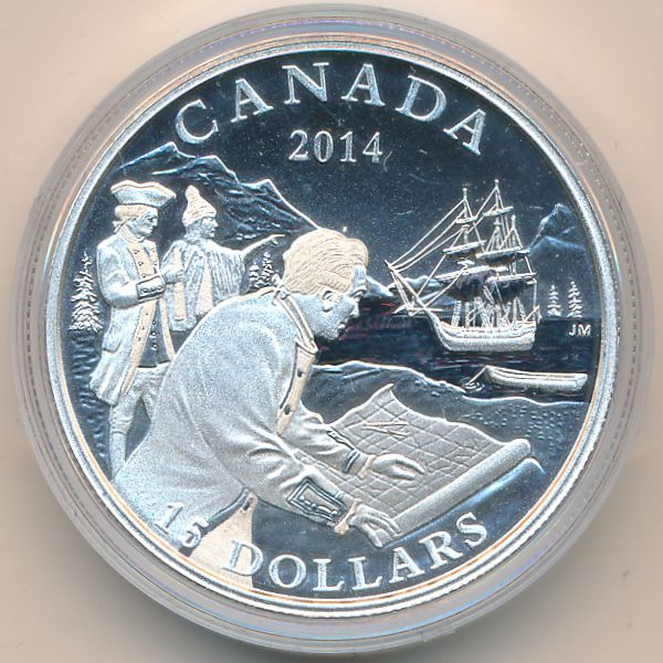 Канада, 15 долларов (2014 г.)