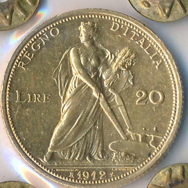 Италия, 20 лир (1912 г.)