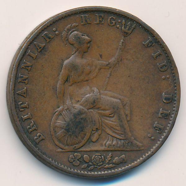 Великобритания, 1/2 пенни (1853 г.)