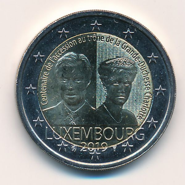Люксембург, 2 евро (2019 г.)