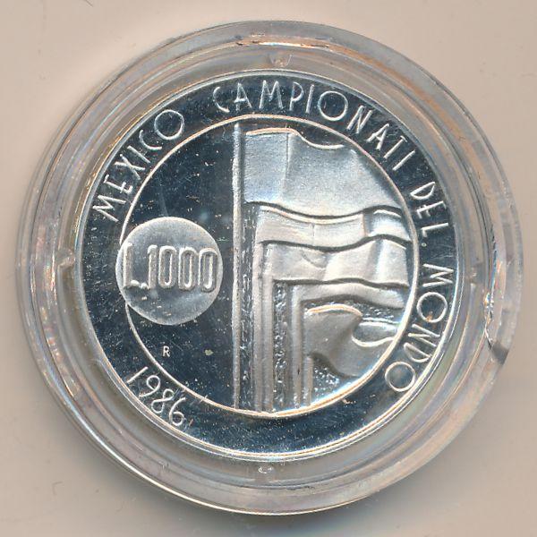 Сан-Марино, 1000 лир (1986 г.)