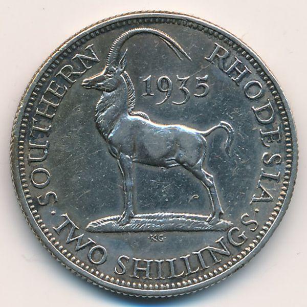Южная Родезия, 2 шиллинга (1935 г.)
