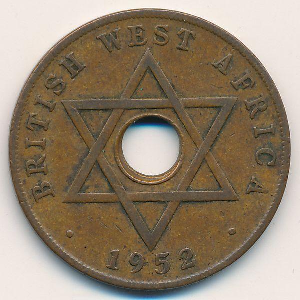 Британская Западная Африка, 1 пенни (1952 г.)