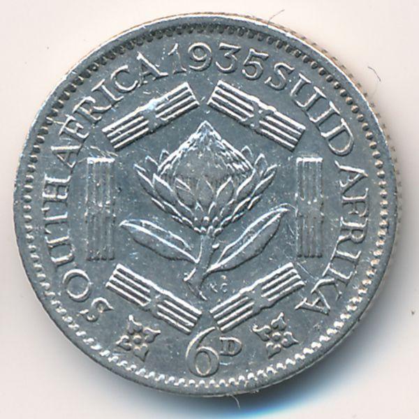 ЮАР, 6 пенсов (1935 г.)