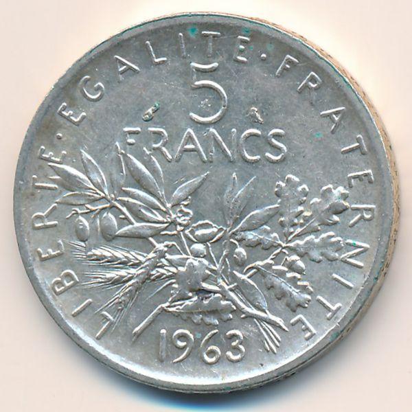 Франция, 5 франков (1963 г.)