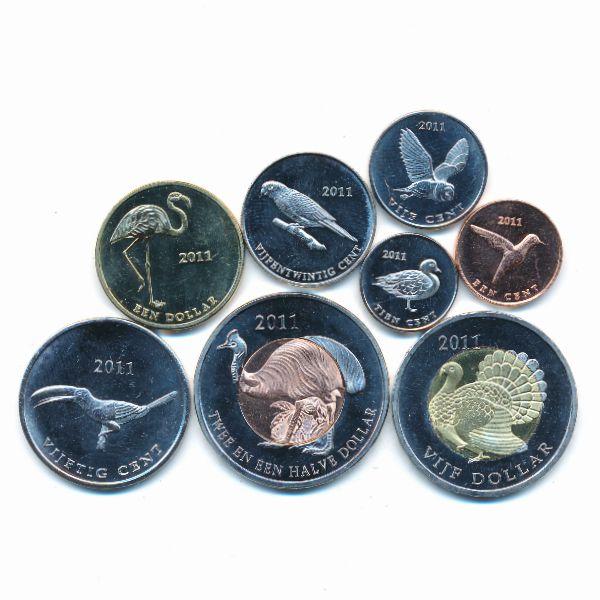 Остров Саба, Набор монет (2011 г.)