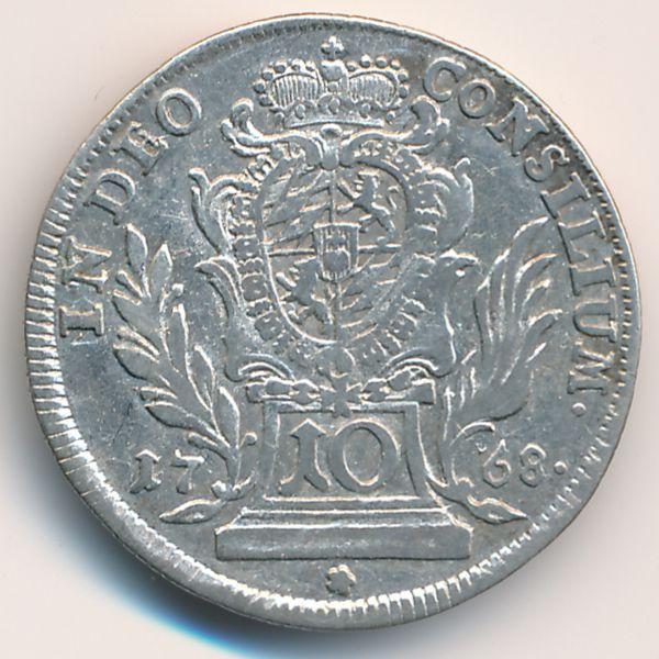 Бавария, 10 крейцеров (1768 г.)