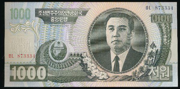 Северная Корея, 1000 вон (2006 г.)
