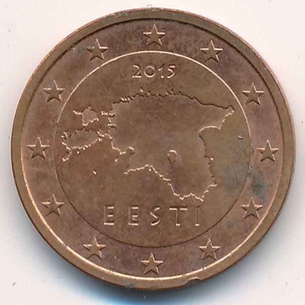 Эстония, 2 евроцента (2015 г.)
