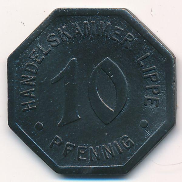 Липпе., 10 пфеннигов (1917 г.)