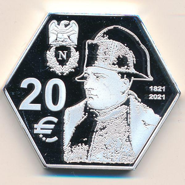 Остров Святой Елены (французские территории), 20 евро (2019 г.)