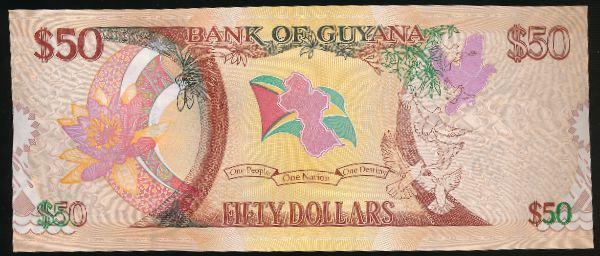 Гайана, 50 долларов (2016 г.)