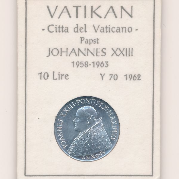 Ватикан, 10 лир (1962 г.)