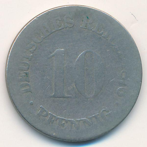 Германия, 10 пфеннигов (1876 г.)