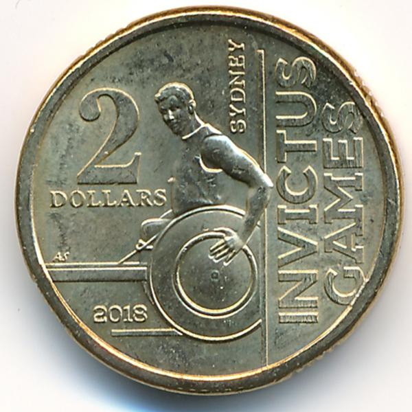 Австралия, 2 доллара (2018 г.)