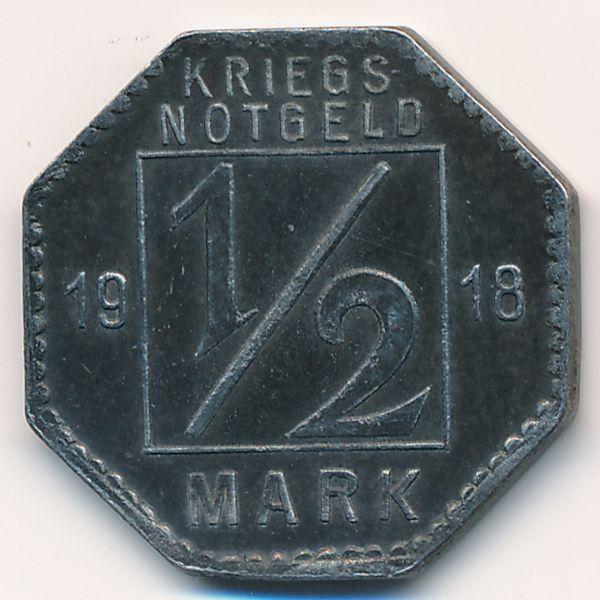 Хехинген., 1/2 марки (1918 г.)
