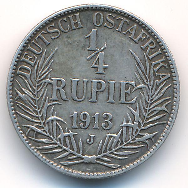 Немецкая Африка, 1/4 рупии (1913 г.)