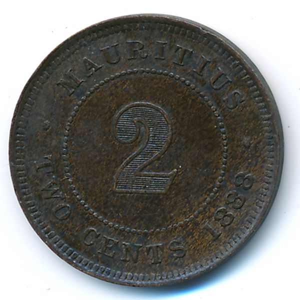 Маврикий, 2 цента (1888 г.)