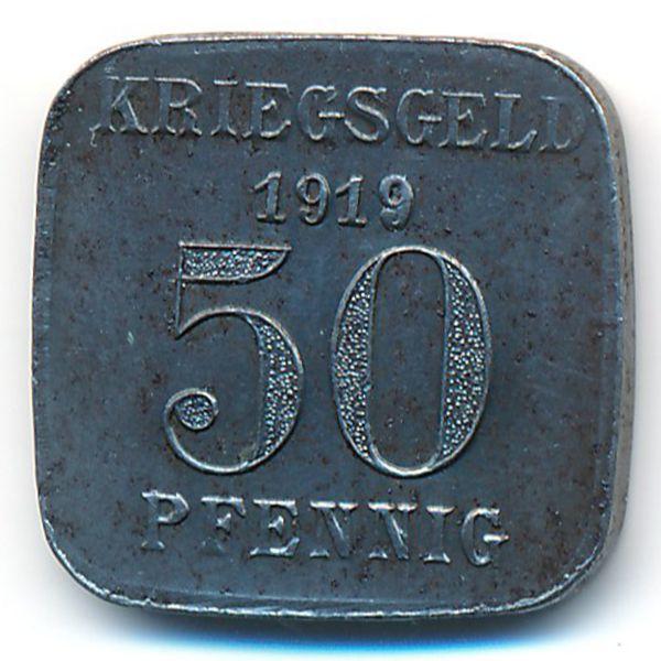 Мюльхайм., 50 пфеннигов (1919 г.)