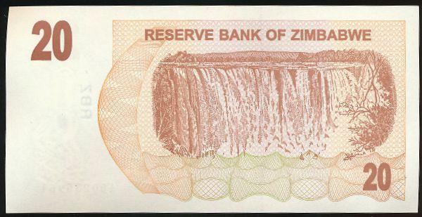 Зимбабве, 20 долларов (2006 г.)
