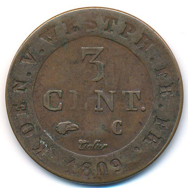 Вестфалия, 3 сентима (1809 г.)