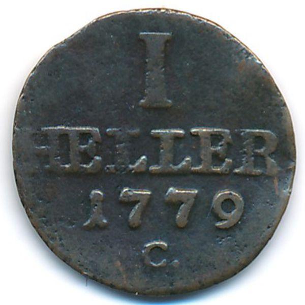 Саксония-Альбертина, 1 геллер (1779 г.)