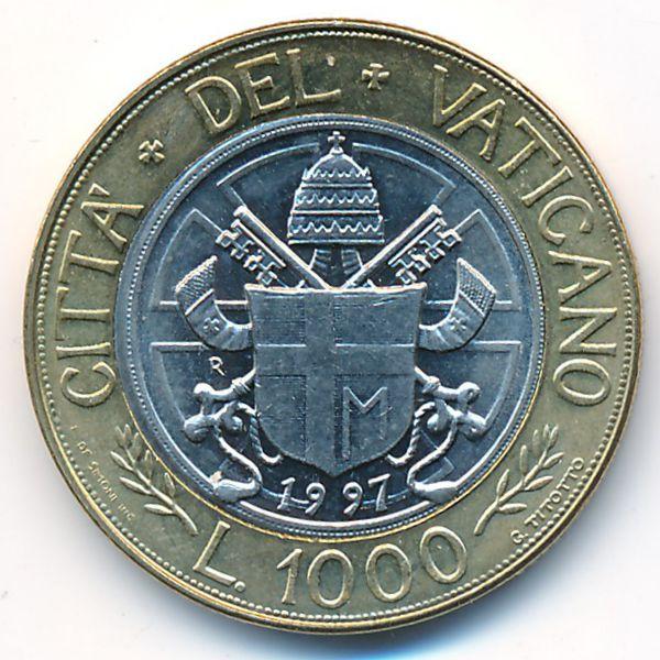 Ватикан, 1000 лир (1997 г.)