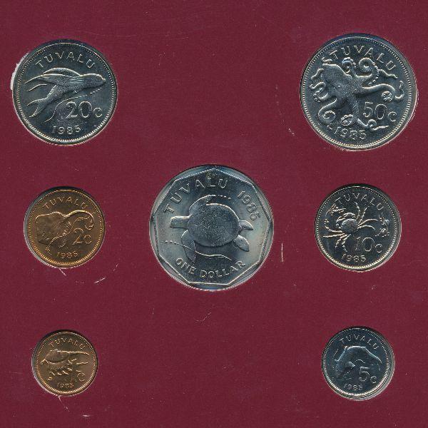 Тувалу, Набор монет (1985 г.)