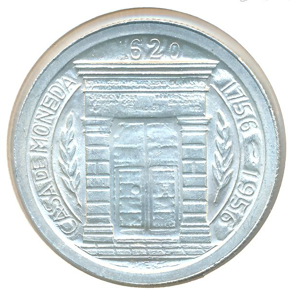 Колумбия, 1 песо (1956 г.)