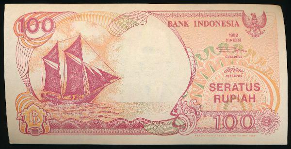 Индонезия, 100 рупий (1992 г.)