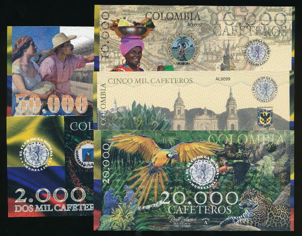 Колумбия, Набор банкнот (2013 г.)