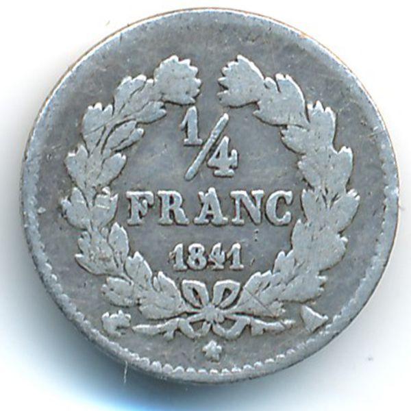 Франция, 1/4 франка (1841 г.)
