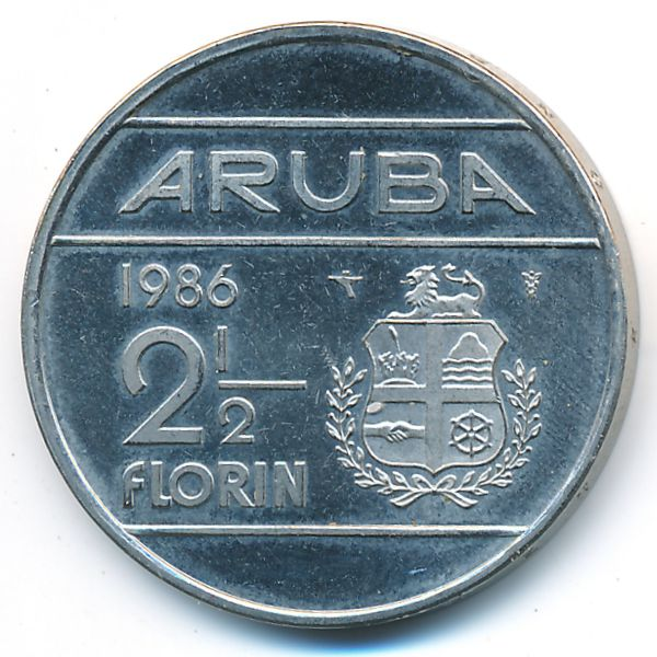 Аруба, 2 1/2 флорина (1986 г.)