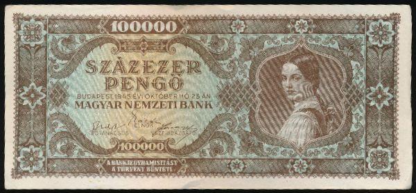 Венгрия, 100000 пенгё (1945 г.)
